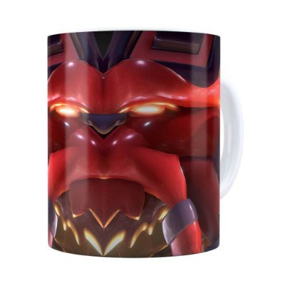 Caneca Ornn 3D Print League of Legends Branca