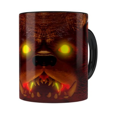 Caneca Tibbers 3D Print League of Legends Preta