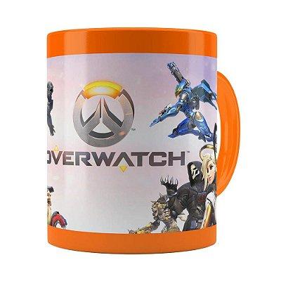 Caneca Overwatch Game 3D Print v02 Laranja