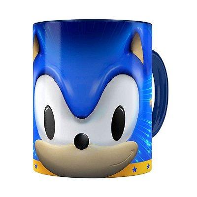 Caneca Sonic 3D Print Azul Escuro