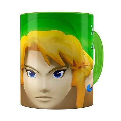 Caneca Zelda 3D Print Games Verde Claro