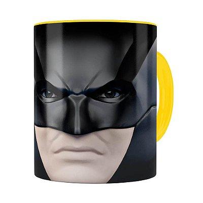 Caneca do Batman 3D Print Face Amarela