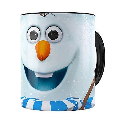 Caneca Olaf 3D Print Frozen Preta