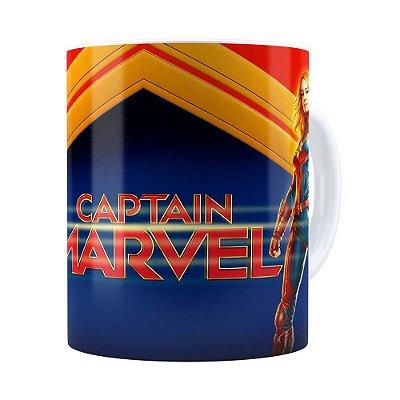 Caneca Capitã Marvel 3D Print Branca