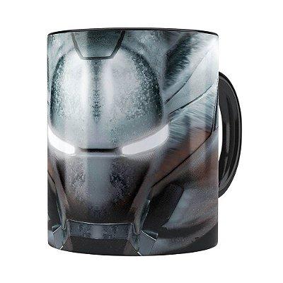 Caneca Homem de Ferro 3D Print Máquina de Combate Preta