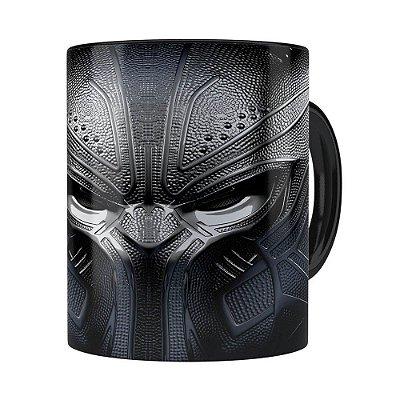 Caneca Pantera Negra 3D Print Vingadores Preta