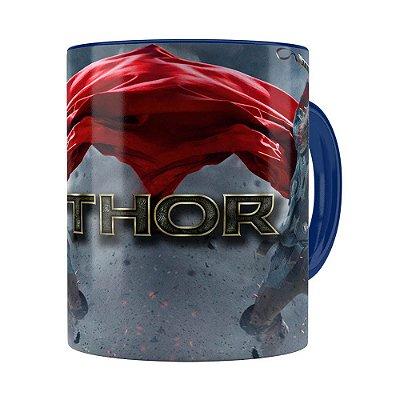 Caneca Thor Filme 3D Print Azul Escuro
