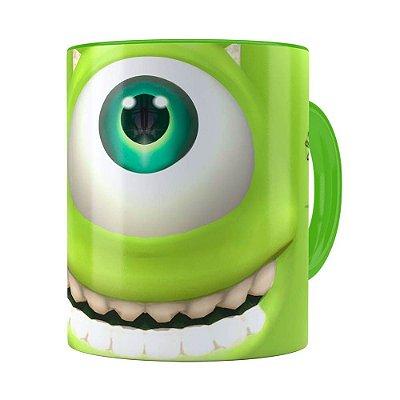 Caneca Mike Wazowski Monstros SA 3D Print Verde Claro