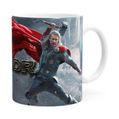 Caneca Thor Filme 3D Print Branca