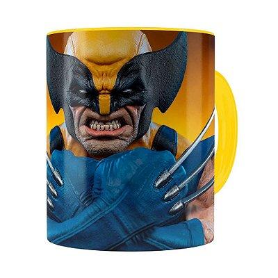 Caneca Wolverine Logan X-Men 3D Print Amarela