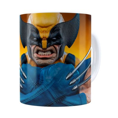Caneca Wolverine Logan X-Men 3D Print Branca