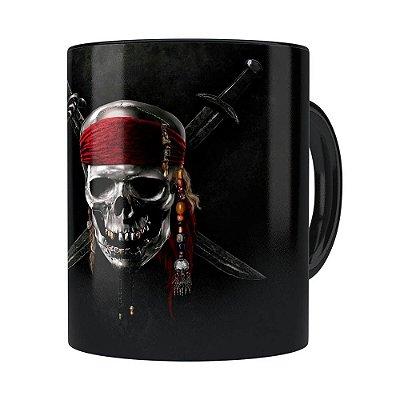 Caneca Piratas do Caribe v01 Preta
