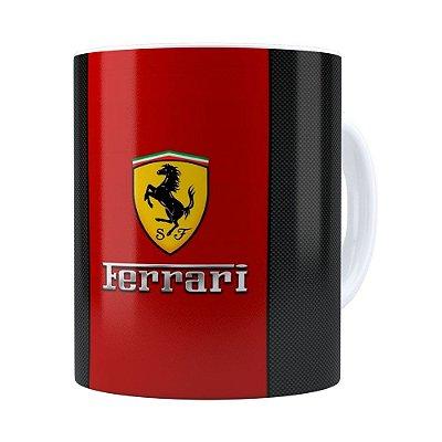Caneca Porcelana Ferrari v01 Branca