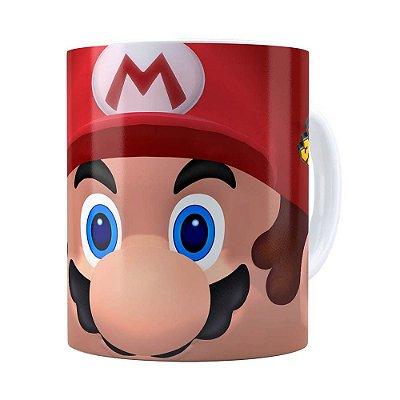 Caneca Mario 3D Print com Logo Branca