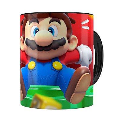 Caneca Mario 3D Print Susto Super Preta