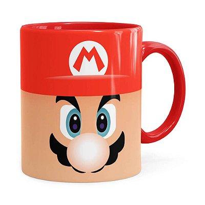 Caneca Mario Super Mario Bros Face Vermelha