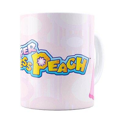 Caneca Princesa Peach Super Mario Bros v01 Branca