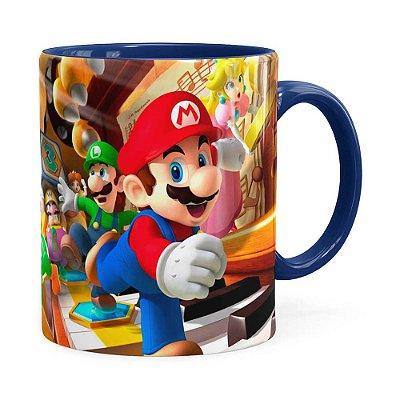 Caneca Super Mario Piano 3D Print Azul Escuro