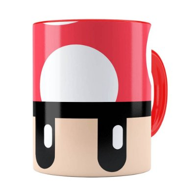 Caneca Toad Super Mario Bros Vermelho