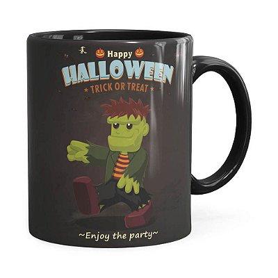 Caneca Halloween Dia das Bruxas v01 Preta