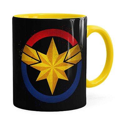 Caneca Capitã Marvel Filme v04 Amarela