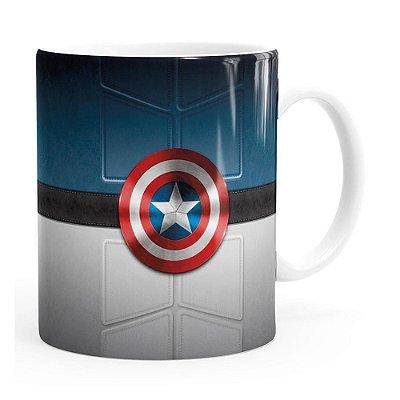 Caneca Capitão América v01 Branca