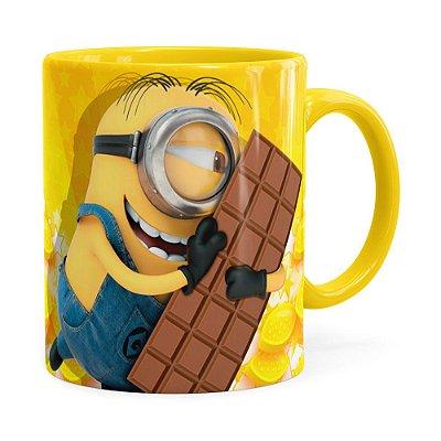 Caneca Minions Meu Chocolate Favorito v01 Amarela
