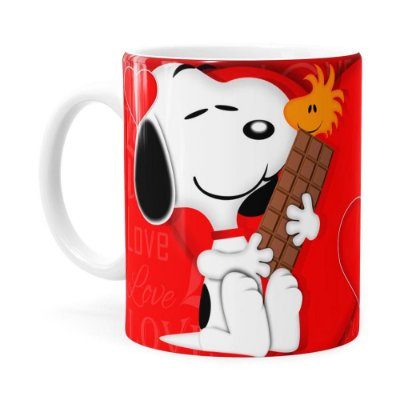 Caneca Snoopy Love Branca