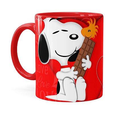Caneca Snoopy Love Vermelha