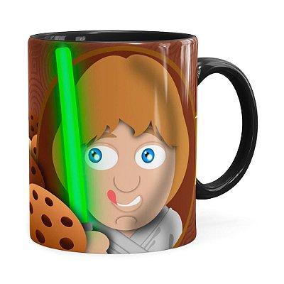 Caneca Star Wars Cookie Skywalker Preta