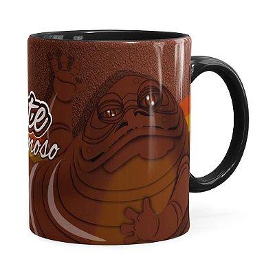 Caneca Star Wars Jabba The Hutt Preta
