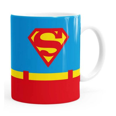 Caneca Superman Logo Branca