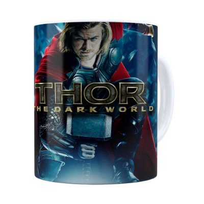 Caneca Thor The Dark World Filme Branca