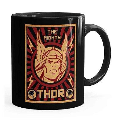 Caneca Thor The Mighty v04 Preta