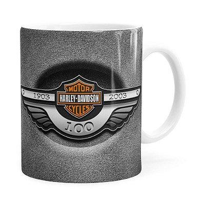 Caneca Harley Davidson História Branca