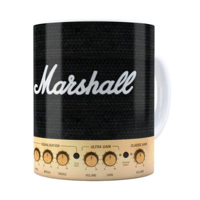 Caneca Marshall Audio Amplificador Branca