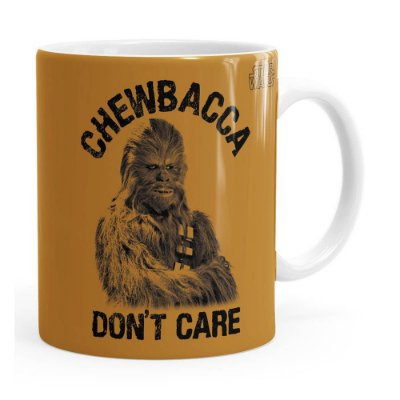 Caneca Star Wars Chewbacca Dont Care 01 Branca