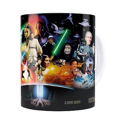 Caneca Star Wars Filmes Branca