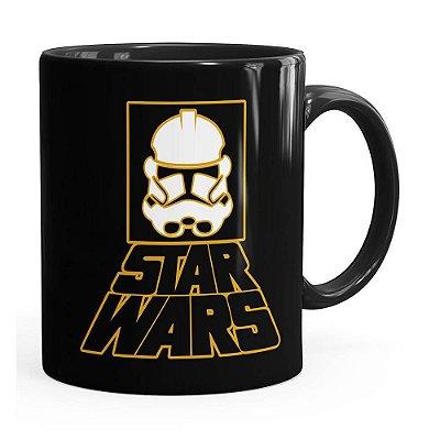 Caneca Star Wars StormTrooper Logo v01 Preta
