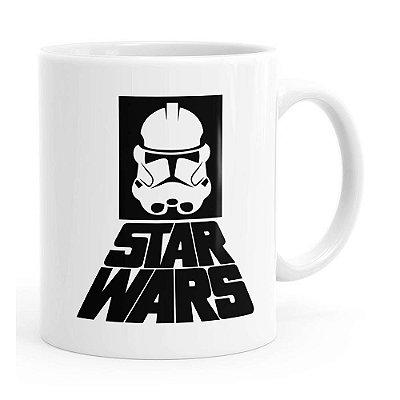 Caneca Star Wars StormTrooper Logo v02 Branca
