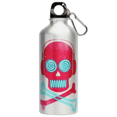 Squeeze Caveira Pirata Neon Music 500ml