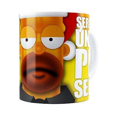 Caneca Natal Os Simpsons Homer Será Seu Único Presente Branca