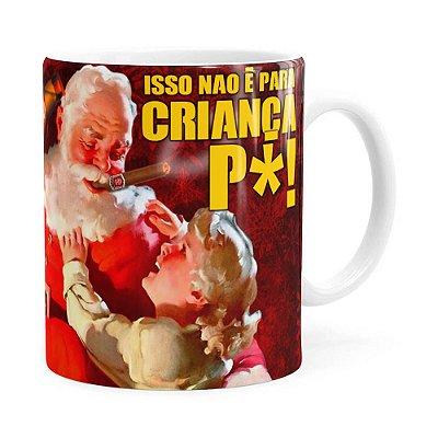 Caneca Natal Skol Com Refri Aqui Não v02 Branca