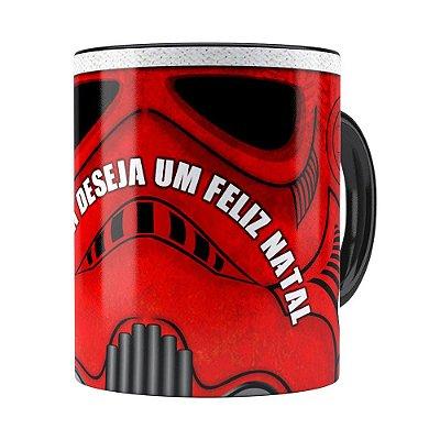 Caneca Star Wars Natal StormTrooper Preta