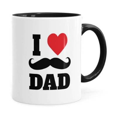 Caneca Dia dos Pais I Love Dad v02 Preta