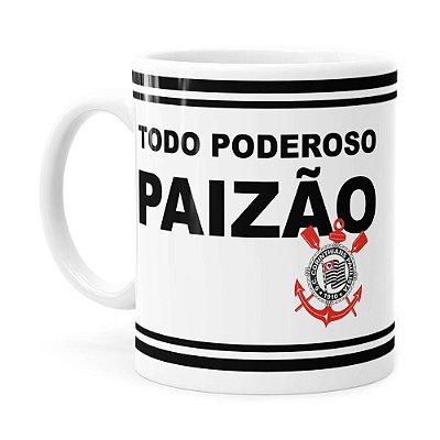 Caneca Poderoso Paizão Corinthians v02 Branca