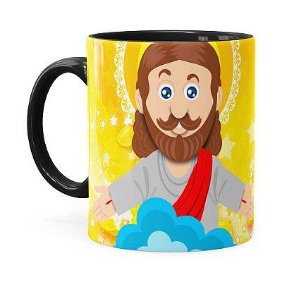 Caneca Páscoa Verdadeiro Significado é Jesus v02 Preta