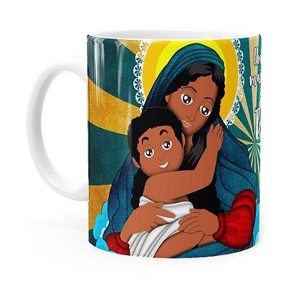 Caneca Amor de Mãe Negra Branca