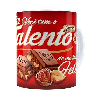 Caneca Chocolate Talento Mamae Branca