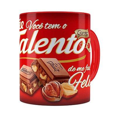 Caneca Chocolate Talento Mamae Vermelha